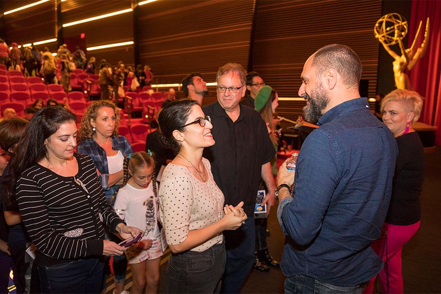 Bob's Burgers creator Loren Bouchard greets fans at It's Not Just A Cartoon! Animation Day, presented by the Television Academy for its members and their families on Saturday, November 11, 2017 at the Saban Media Center in North Hollywood, California.