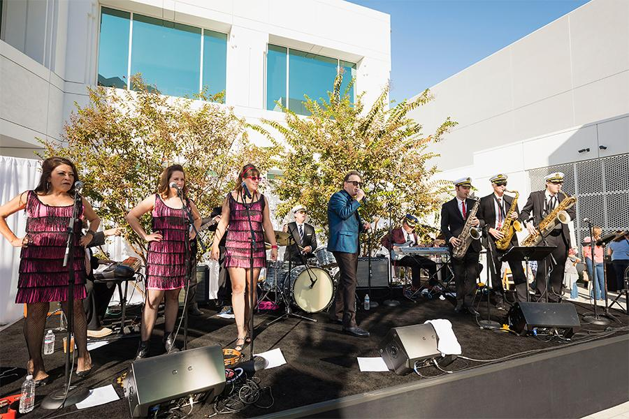 Tom Kenny and the Hi-Seas Band perform at It's Not Just A Cartoon! Animation Day, presented by the Television Academy for its members and their families on Saturday, November 11, 2017 at the Saban Media Center in North Hollywood, California.