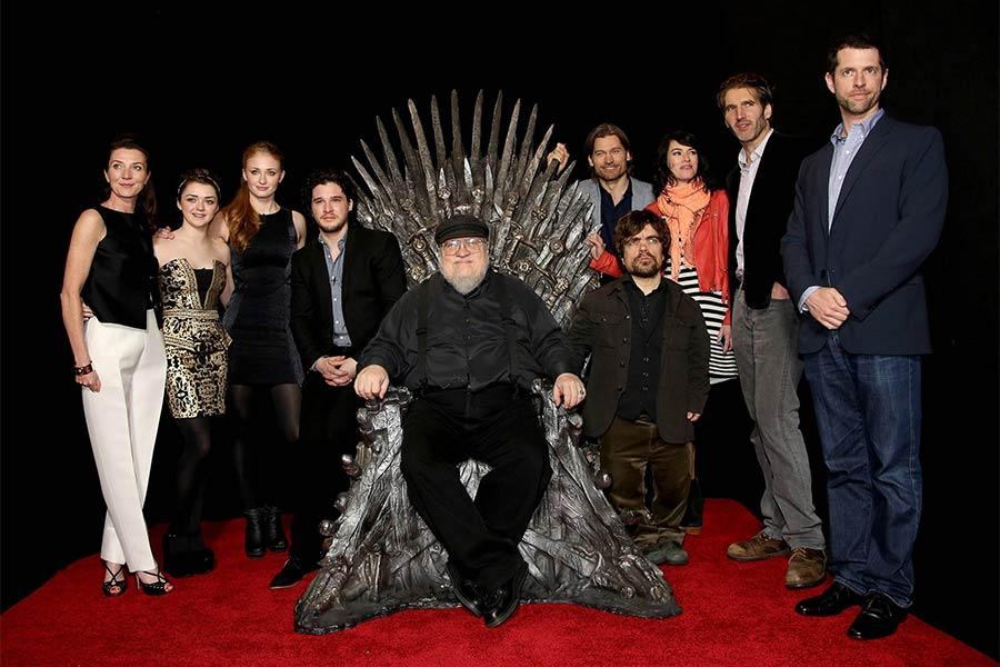 The cast and creators at An Evening with Game of Thrones.