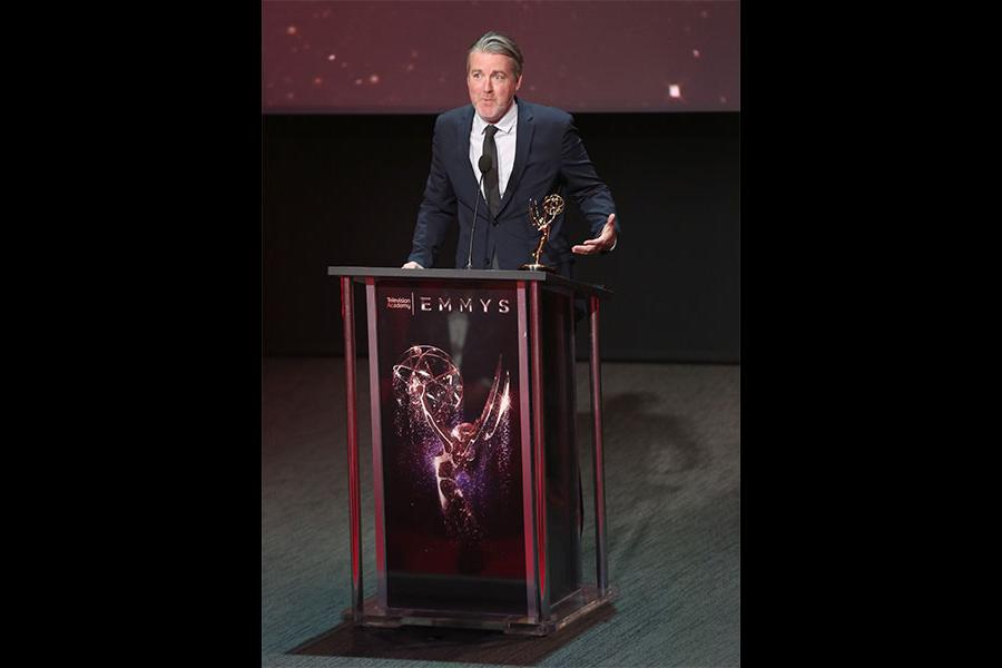 Christopher Hawthorne at the L.A. Area Emmy Awards presented at the Television Academy's Wolf Theatre at the Saban Media Center on Saturday, July 22, 2017, in North Hollywood, California.