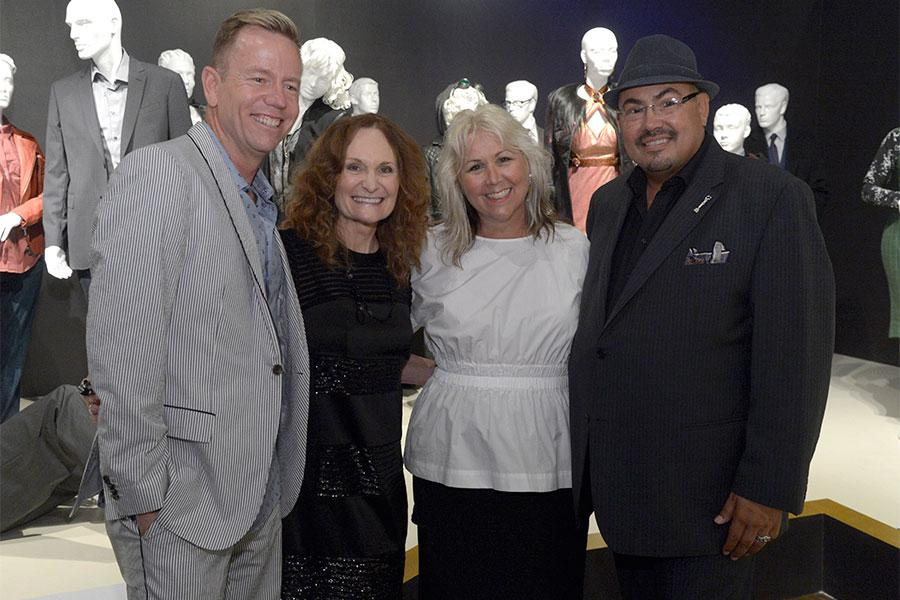 Christopher Lawrence, costume designer of Ray Donovan, from left, Beth Grant, Lisa Padovani, costume designer of Gotham and Salvador Perez, costume designer of The Mindy Project at The 9th Annual Outstanding Art of Television Costume Design Exhibition at