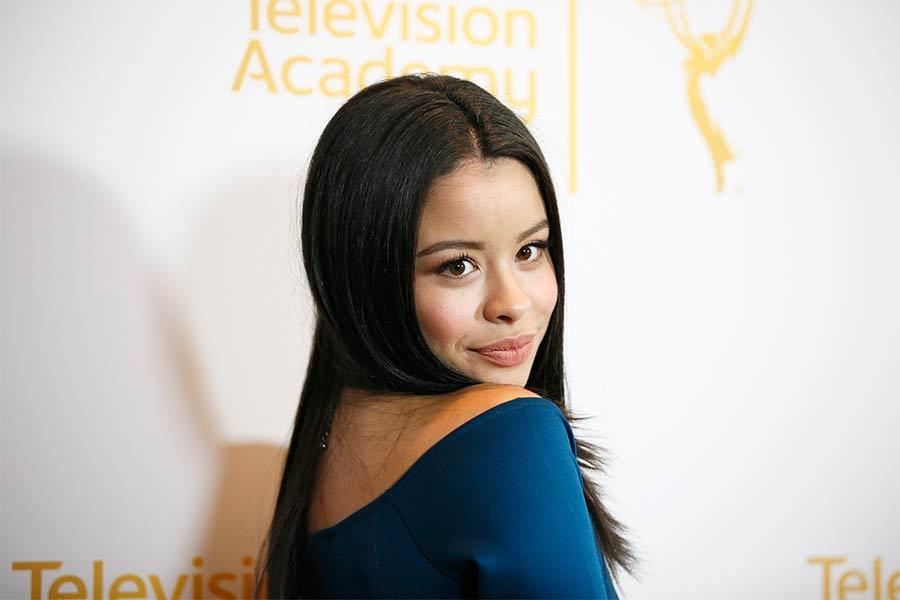 Cierra Ramirez on the red carpet at An Evening with The Fosters in Los Angeles, California.