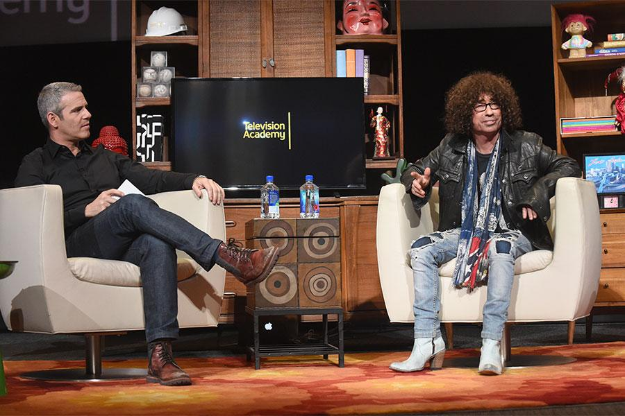Andy Cohen interviews Mike Darnell at Mike Darnell: Reality TV's Great Provocateur at the Saban Media Center in North Hollywood, California, March 29, 2017.