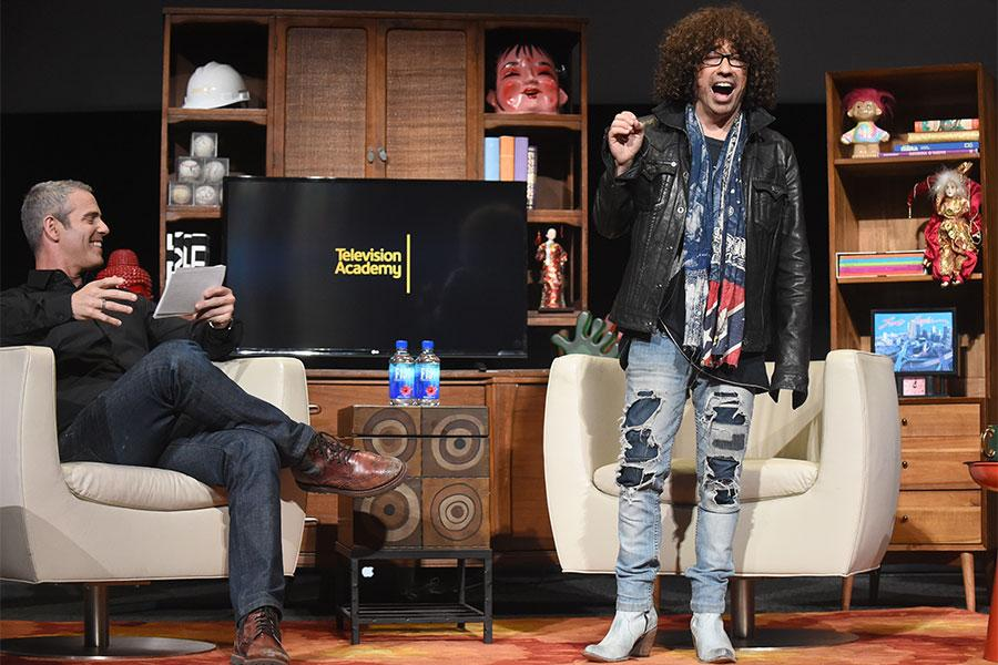 Andy Cohen and Mike Darnell onstage at Mike Darnell: Reality TV's Great Provocateur at the Saban Media Center in North Hollywood, California, March 29, 2017.