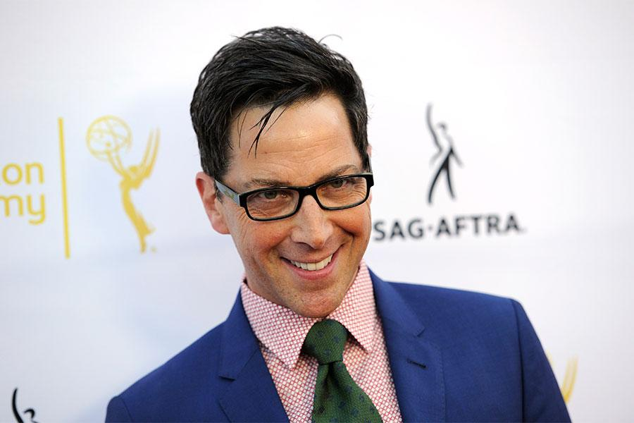 Dan Bucatinsky of Scandal arrives at Dynamic and Diverse: A 66th Emmy Awards Celebration of Diversity at the Television Academy in North Hollywood, California.