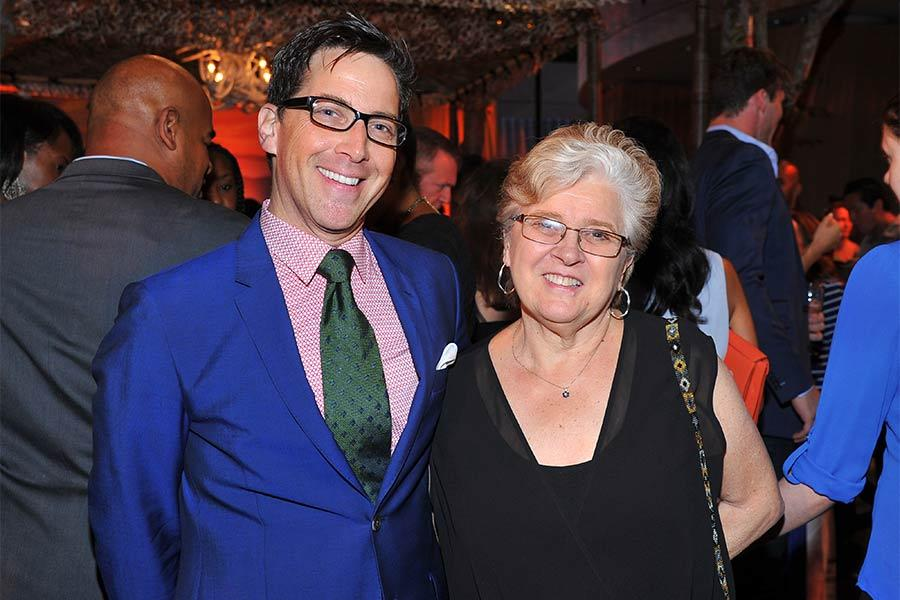 Dan Bucatinsky of Scandal and his mother Myriam Bucatinsky at Dynamic and Diverse: A 66th Emmy Awards Celebration of Diversity at the Television Academy in North Hollywood, California.