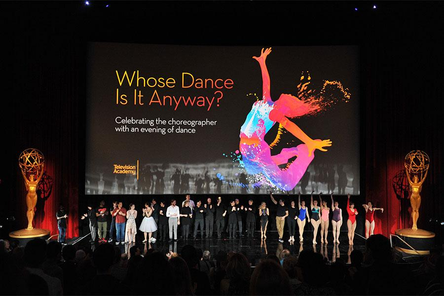 """Dancers take the stage at """"Whose Dance Is It Anyway?"""" February 16, 2017, at the Saban Media Center in North Nollywood, California."""