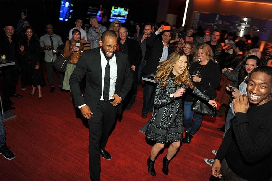 """Guests dance at the reception at """"Whose Dance Is It Anyway?"""" February 16, 2017, at the Saban Media Center in North Nollywood, California."""