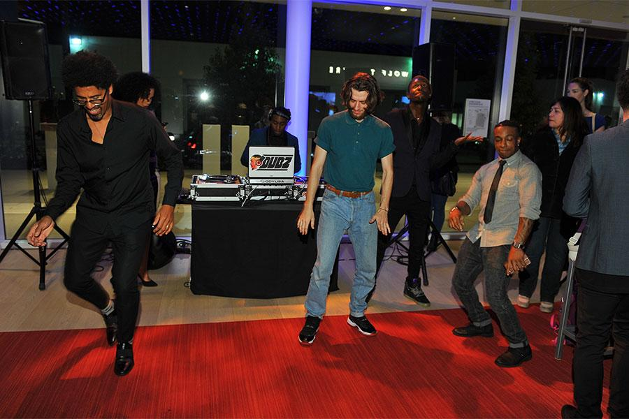 "Guests dance to the sounds of DJ Dubz at ""Whose Dance Is It Anyway?"" February 16, 2017, at the Saban Media Center in North Nollywood, California."