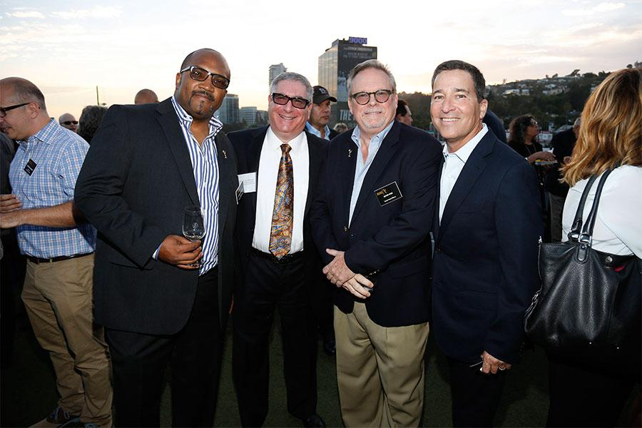 Daniel Evans III, Stephen Jay Strauss, Kevin Pike and Bruce Rosenblum at the Executives Emmy Celebration in West Hollywood, California.