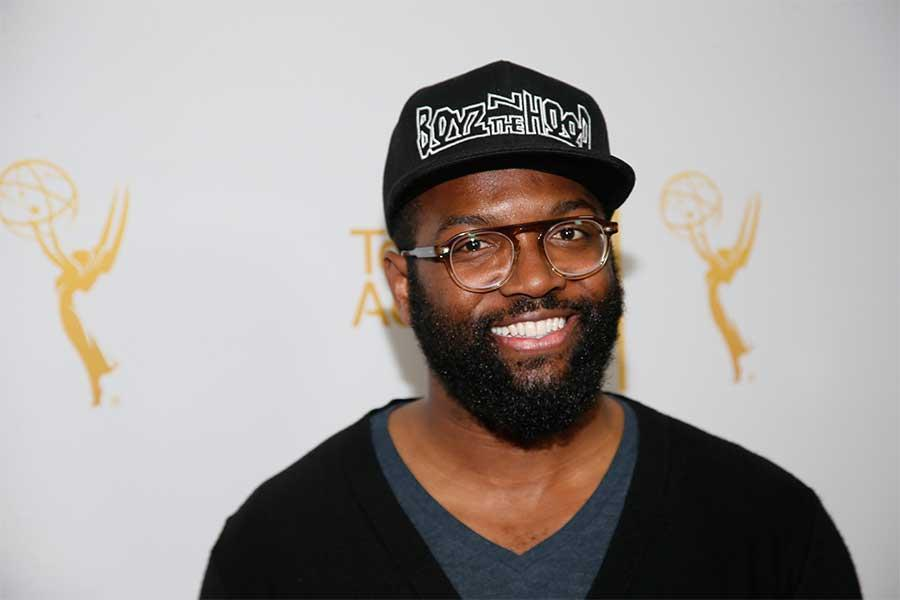 Baratunde Thurston on the red carpet at An Evening with Norman Lear at the Montalban Theater in Hollywood.