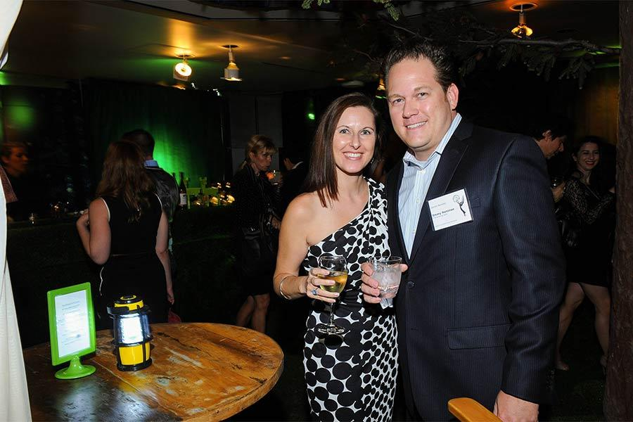 Darren Bunkley and his wife Kelly at the Documentary Programming and Reality Programming nominee reception in North Hollywood, California.