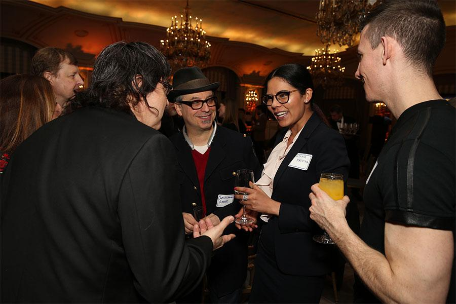 David Hausen Surreal and Alana Malviya at Television Academy's Networking Night Out at the St. Regis on Friday, April 6, 2018 in New York.