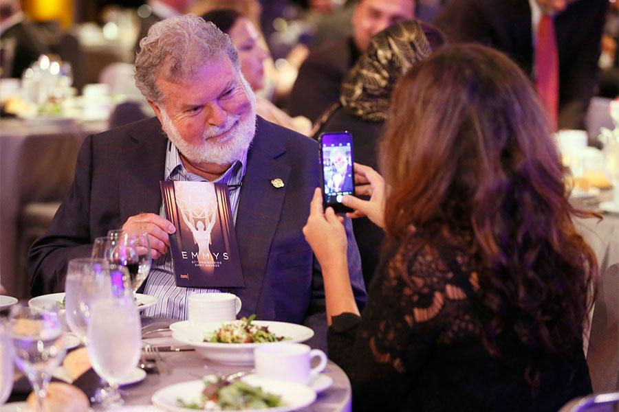 Dean Cundey at the 2015 Engineering Emmys at the Loews Hotel in Los Angeles, October 28, 2015.