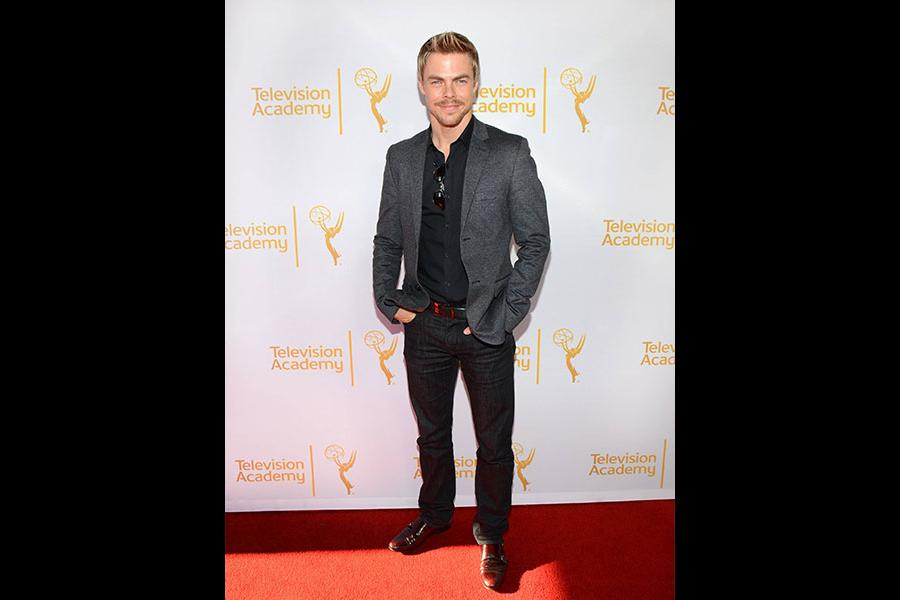 Derek Hough arrives at the Choreographers Nominee Reception in North Hollywood, California.