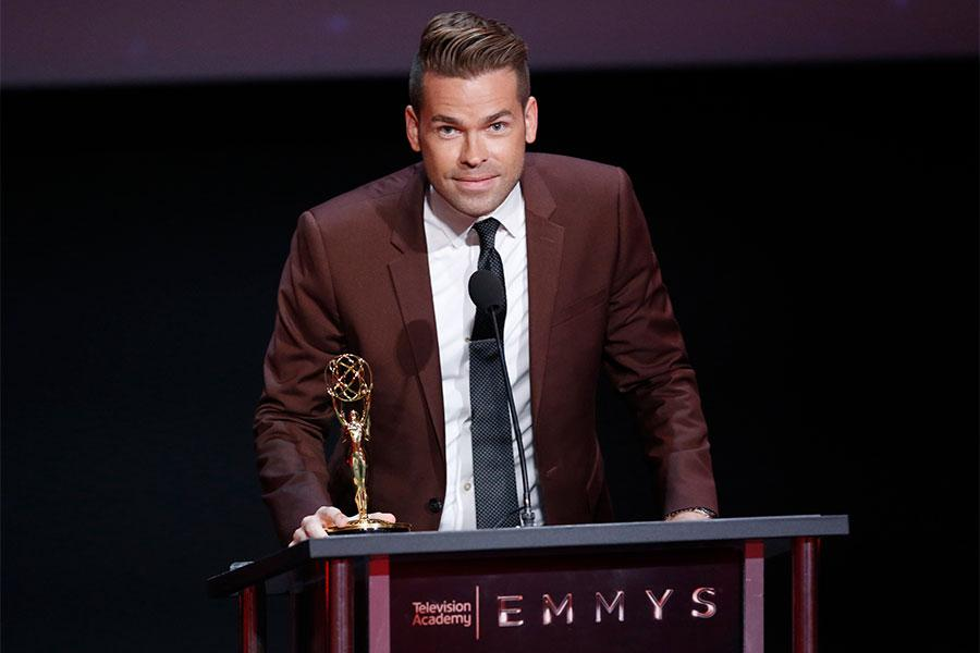 Derrick Shore at the L.A. Area Emmy Awards presented at the Television Academy's Wolf Theatre at the Saban Media Center on Saturday, July 22, 2017, in North Hollywood, California.