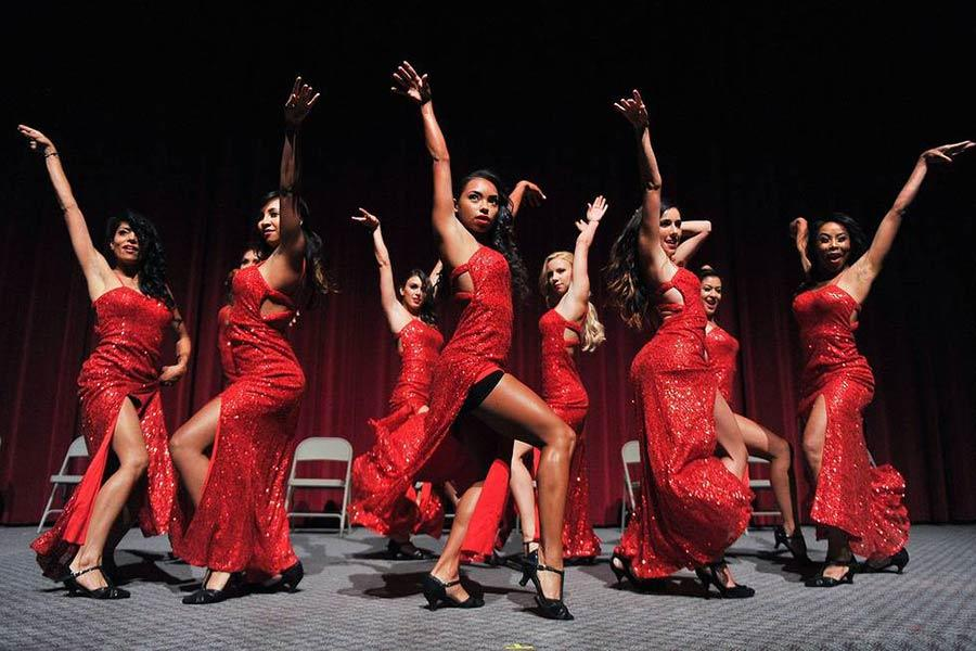 The Devil Girls perform at the Choreographers Nominee Reception in North Hollywood, California.