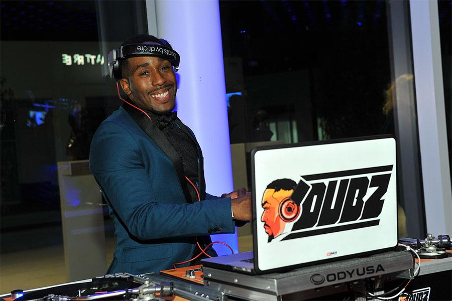 """DJ Dubz at """"Whose Dance Is It Anyway?"""" February 16, 2017, at the Saban Media Center in North Nollywood, California."""