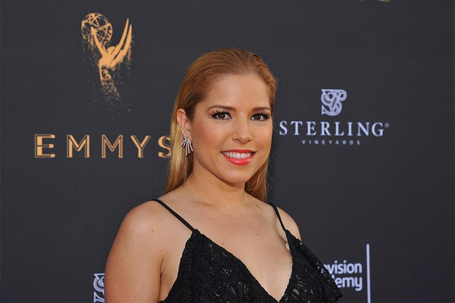 Elva Saray at the L.A. Area Emmy Awards presented at the Television Academy's Wolf Theatre at the Saban Media Center on Saturday, July 22, 2017, in North Hollywood, California.