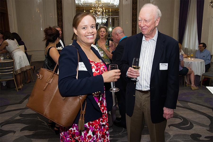 Erica Myrickes and Raymond Siller at Networking Night Out NYC! at the St. Regis Hotel in New York City, June 12, 2015.