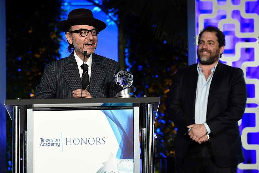 Fisher Stevens speaks at the 2017 Television Academy Honors at the Montage Hotel on Thursday, June 8, 2017, in Beverly Hills, California.