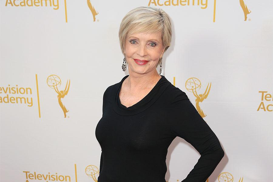 Florence Henderson arrives at the Montage Beverly Hills for the 2014 Performers Peer Group Primetime Emmy nominee reception.