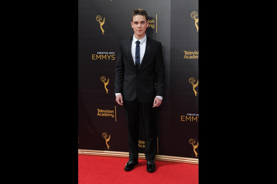 Ricardo Hurtado on the red carpet at the 2016 Creative Arts Emmys.