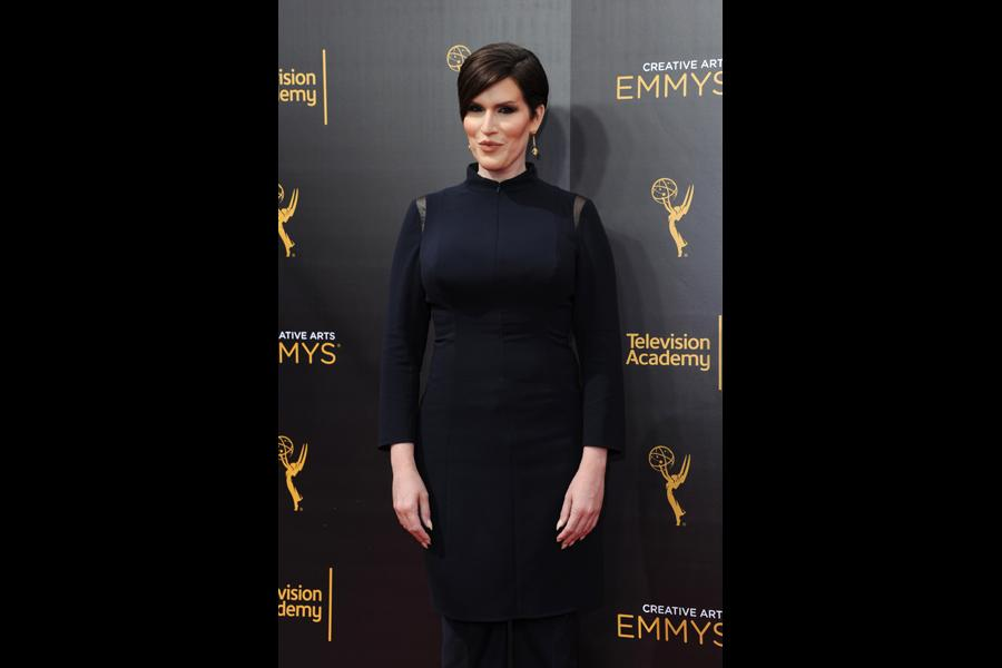 Our Lady J on the red carpet at the 2016 Creative Arts Emmys.