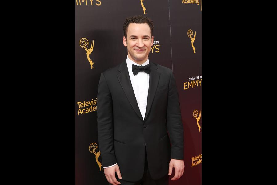 Ben Savage on the red carpet at the 2016 Creative Arts Emmys.