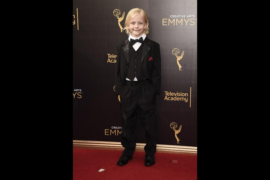 Christian Ganiere on the red carpet at the 2016 Creative Arts Emmys.
