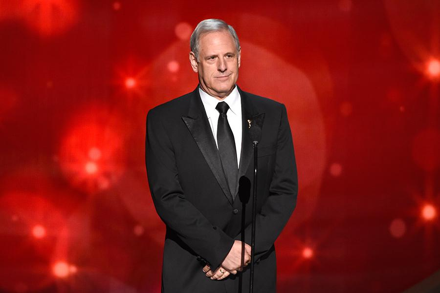 Kevin Hamburger on-stage at the 2016 Creative Arts Emmys.