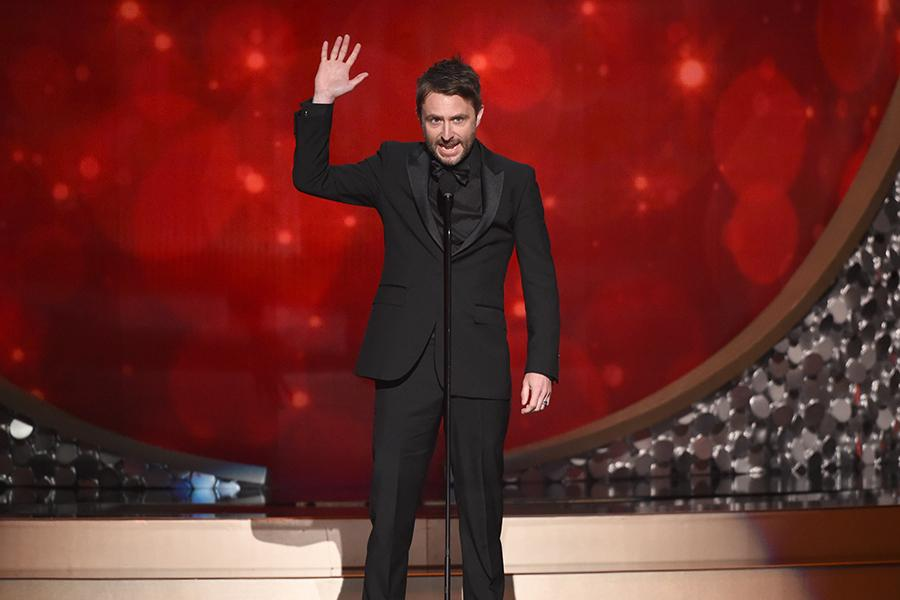 Chris Hardwick on stage at the 2016 Creative Arts Emmys.
