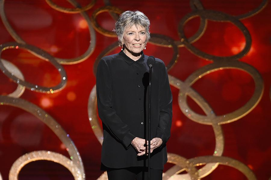 Linda Ellerbee on stage at the 2016 Creative Arts Emmys.