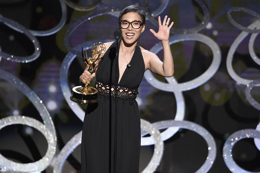 Chi-Yoon Chung on stage at the 2016 Creative Arts Emmys.