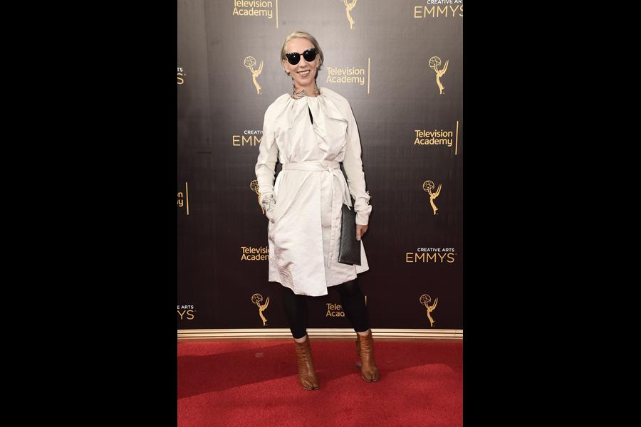 Michele Clapton on the red carpet at the 2016 Creative Arts Emmys.