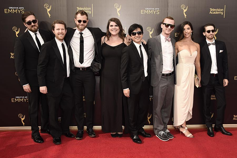 Outstanding Advertisement nominees on the red carpet at the 2016 Creative Arts Emmys.