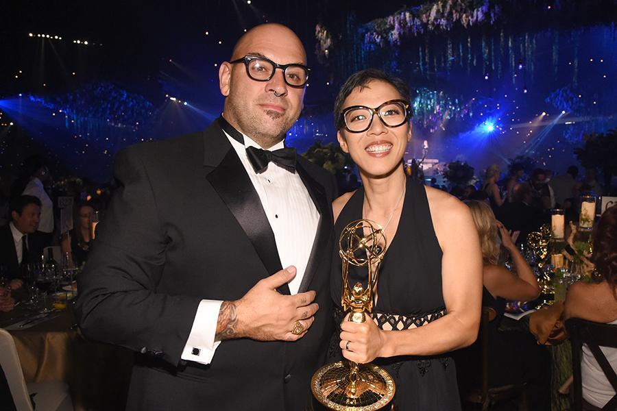 Chi-Yoon Chung and Larry Love at the 2016 Creative Arts Ball.