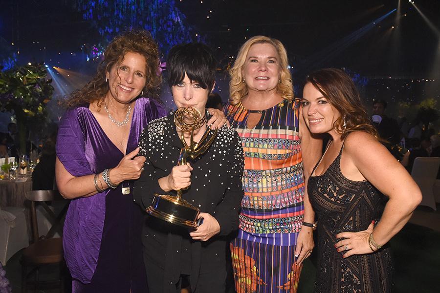 Bonnie Greenberg, Diane Warren, Anne O'Shea, and Julie Smolyansky at the 2016 Creative Arts Ball.