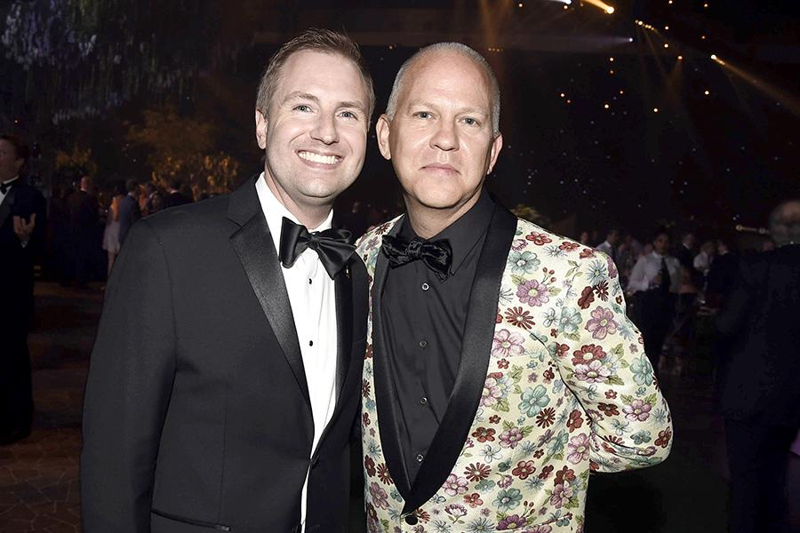 Maury McIntyre and Ryan Murphy at the 2016 Creative Arts Ball.
