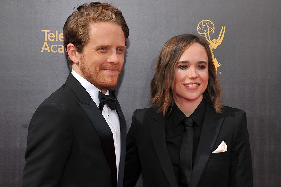 Ian Daniel and Ellen Page on the red carpet at the 2016 Creative Arts Emmys.