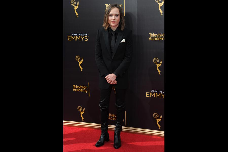 Ellen Page on the red carpet at the 2016 Creative Arts Emmys.