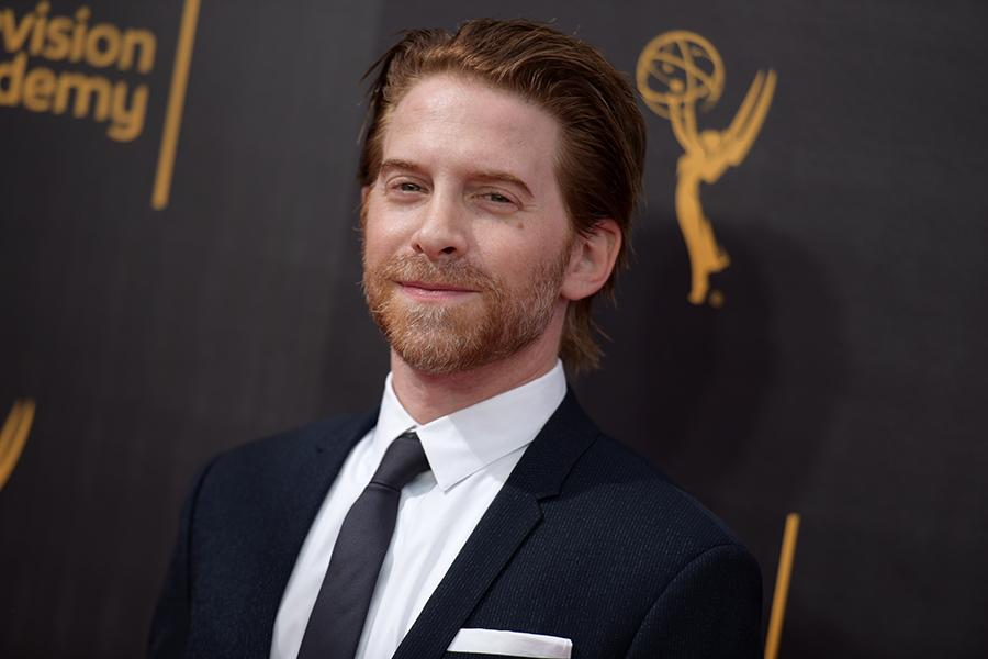 Seth Green on the red carpet at the 2016 Creative Arts Emmys.