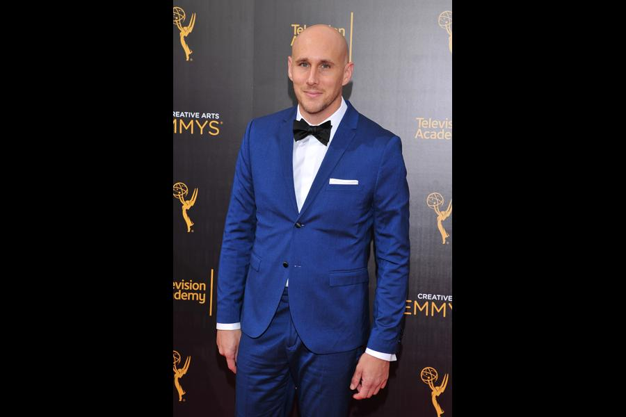 Josh Wingate on the red carpet at the 2016 Creative Arts Emmys.
