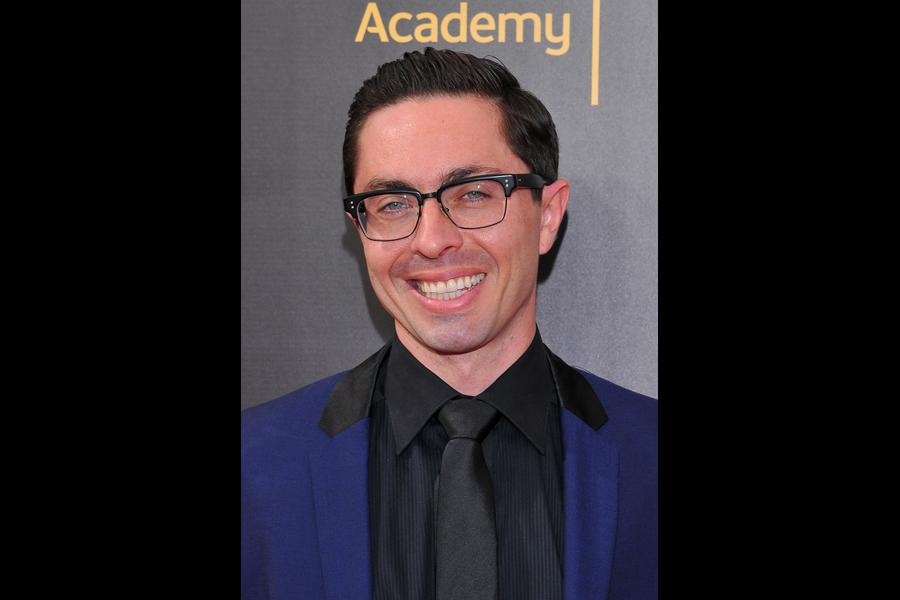 James Pearse Connelly on the red carpet at the 2016 Creative Arts Emmys.
