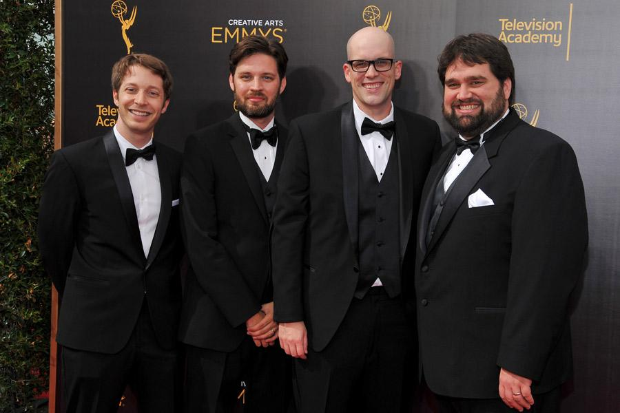 Honest Trailers on the red carpet at the 2016 Creative Arts Emmys.