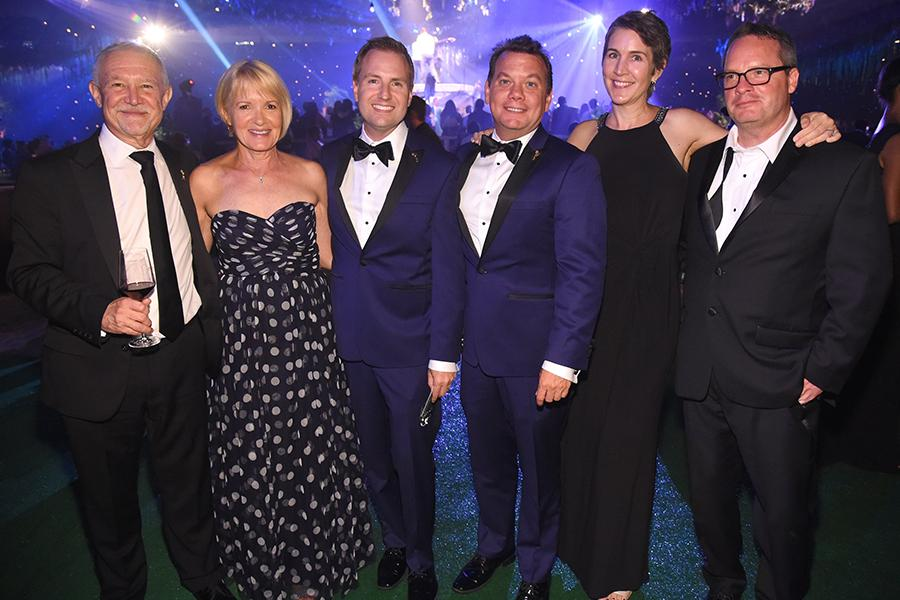 Steve Venezia, Maury McIntyre, Heather Cochran, and Eric Anderson at the 2016 Creative Arts Ball.