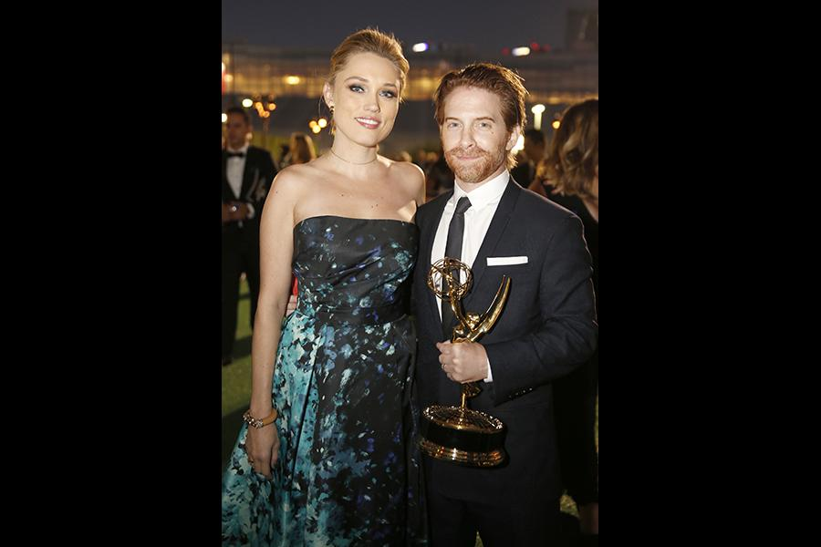 Clare Grant and Seth Green at the 2016 Creative Arts Ball.