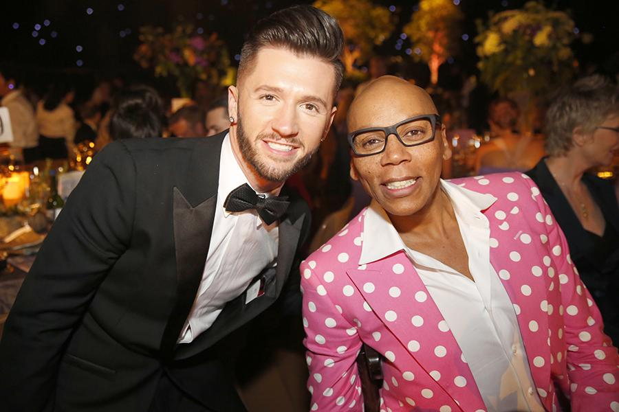 Travis Wall and RuPaul Charles at the 2016 Creative Arts Ball.
