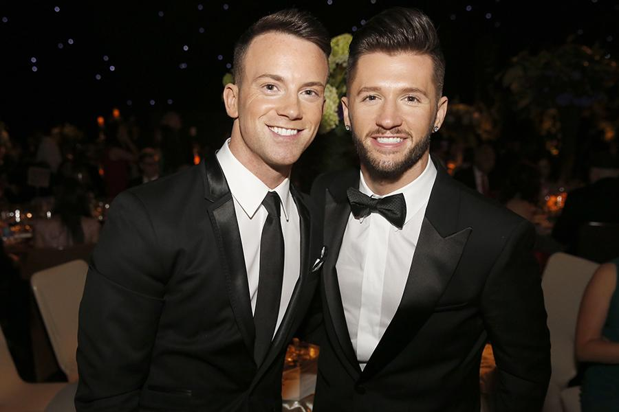 Dom Palange and Travis Wall at the 2016 Creative Arts Ball.