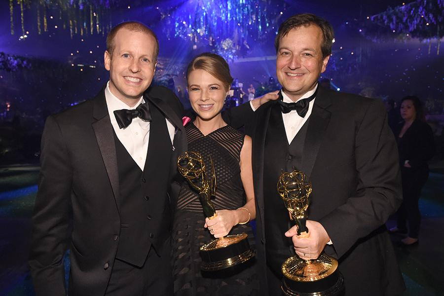 Michael Eller, from left, Kerri McDermott, and Drew Tappon at the 2016 Creative Arts Ball.